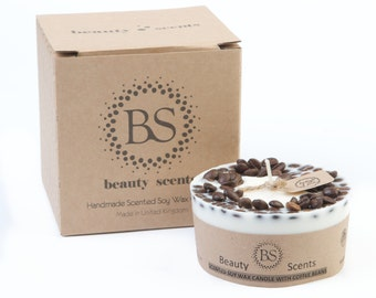 Beauty Scents Handmade Candle with Coffee Beans