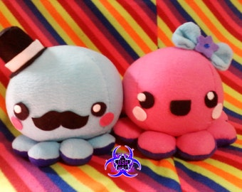Kawaii Octopus plushie (your choice of color, boy, or girl)