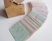 RESERVED  - 20 Handmade Business Cards and 20 Cards with Bottlebrush