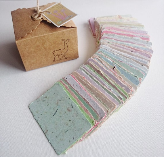 SAMPLE 20 Handmade Business Cards Blank Recycled Paper