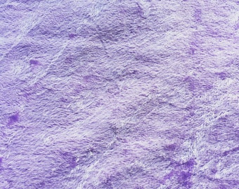 Lilac Love: Light Purple Lilac Colored Crushed Panne Velour Fabric