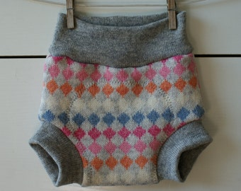 M size upcycled wool diaper cover, soaker