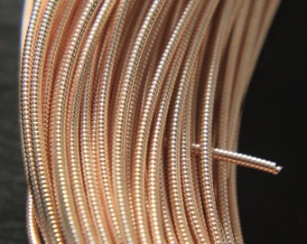 10Mtr, 1MM Jaseron French Stiff wire in Rose Gold Color-EMB1439