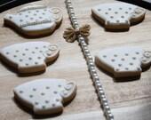 Teacup and Teapot Sugar Cookies - One Dozen