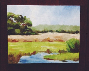 10x8 Oil Painting, Lowcountry Marsh