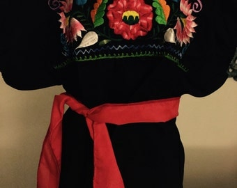 Mexican Blouse,mexican skirt  top, Mexican blousegirls and women, Embroidered blouse, Mexican embroidered clothing,