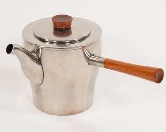 Danish stainless steel teapot by Dana