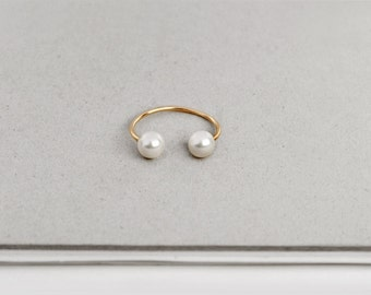 Open minimal ring with two pearls