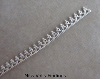 6 inches sterling silver bezel wire gallery design 2.5mm wide