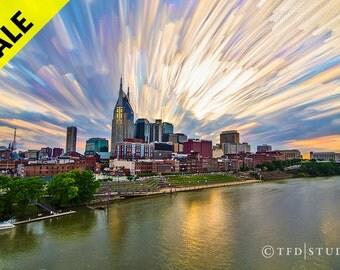 SALE! Landscape Photography - Nashville, TN - Painted Sunset