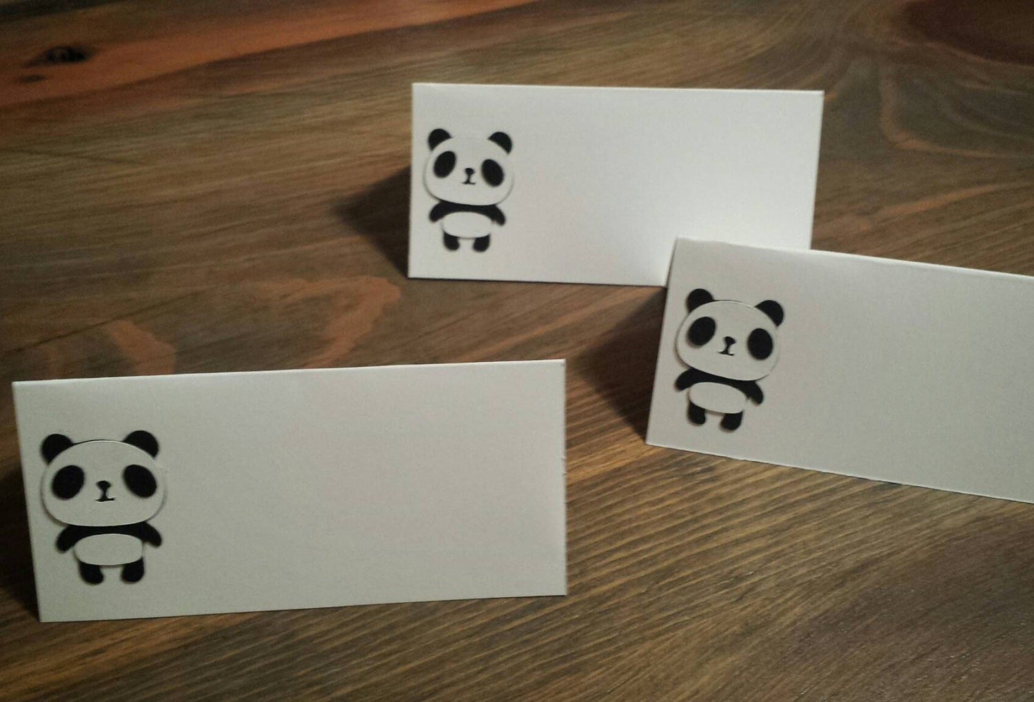 Panda Bear Themed Place Cards Buffet Food Party Name Tags
