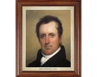 James Fenimore Cooper portrait; 16x20 print on premium heavy photo paper