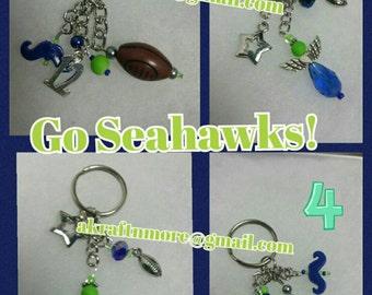 Seahawks key chain/ purse charm
