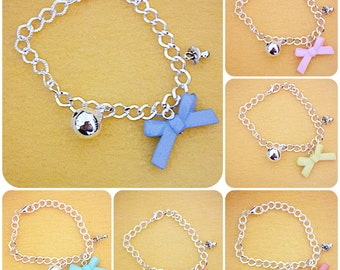chiama angeli bracelet with resin Ribbon and pacifier