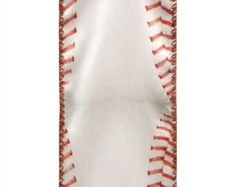 "2-1/2"" Wired Baseball Ribbon - 10 Yards - White"