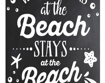 What Happens at the Beach Stays at the Beach..... poster/sign/print