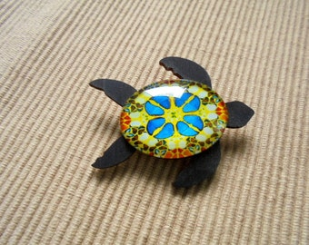 Brooch, sea turtle (1872)