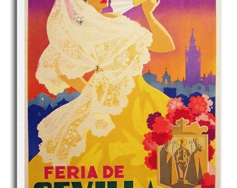 Seville Spain Art Spanish Vintage Travel Poster Retro Home Decor Print xr950