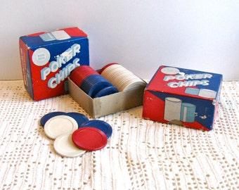 Vintage Poker Chips in Box 2 Sets