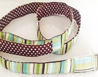 Blue, Brown and Green Striped Dog Leash
