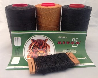 Ritza 25 Tiger Thread - 1mm - for Leatherwork - 20m - best leather craft thread from Germany