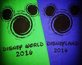 You choose which Disney Vacation Disney World or Disneyland disney 2016 shirt matching shirts or tshirts Mickey Mouse t shirt