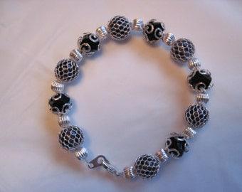 Black cage bracelet