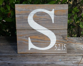 Letter Initial monogram Perfect wedding gift or house warming