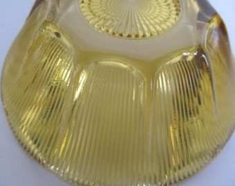 Vintage Amber Glass Bowl  8''  Scallop  Edge