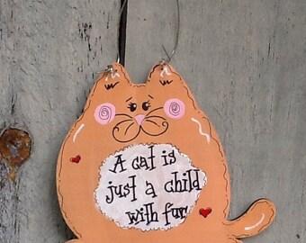 Christmas Cat sign, cat sign, fat cat sign, cat ornament, fat cat ornament, cat lovers sign, cat lovers ornament, cat gift tag, cat grab bag