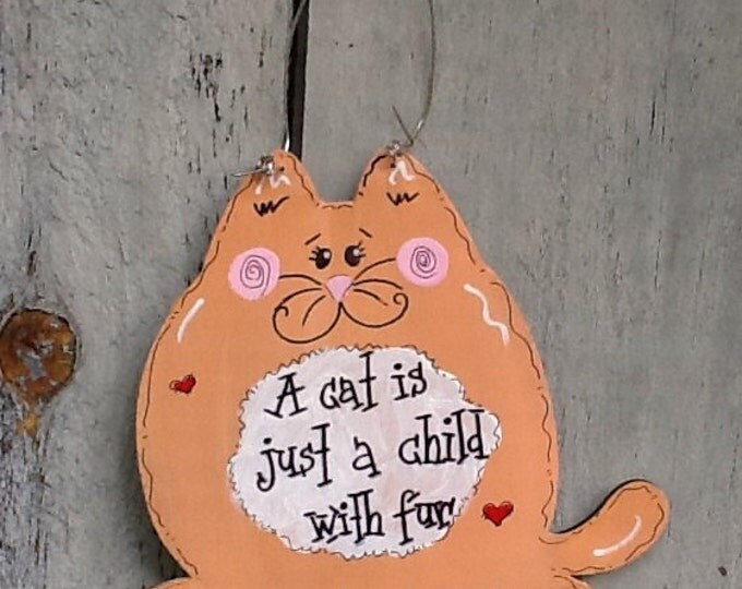 Christmas Cat sign, cat sign, fat cat sign, cat ornament, fat cat ornament, cat lovers sign, cat lovers ornament, cat gift tag, cat grab bag