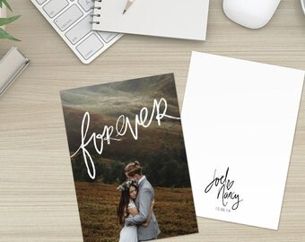 Wedding Thank You Card Photo Printable Digital Download Custom Template