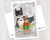 Batdog and Robcat Postcar...