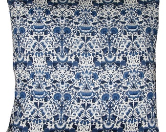 Liberty of London Lodden William Morris Navy Blue Cushion Cover