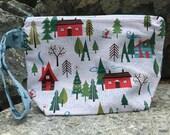 Small Zipper Clutch Bag, Knitting Project Bag, Sock Project Bag