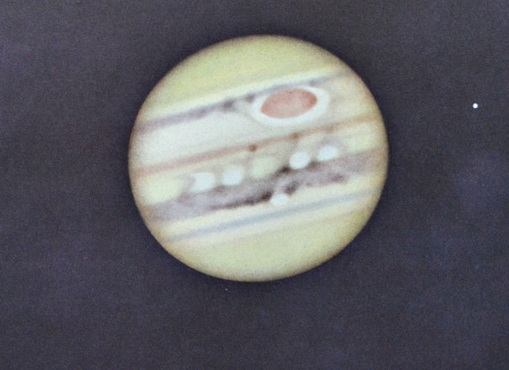 Surface of Jupiter.  Great Red Spot . Astonomy print. Old book plate, 1937. Antique  illustration. 78 years lithograph. 9'4 x 12'1 inches.