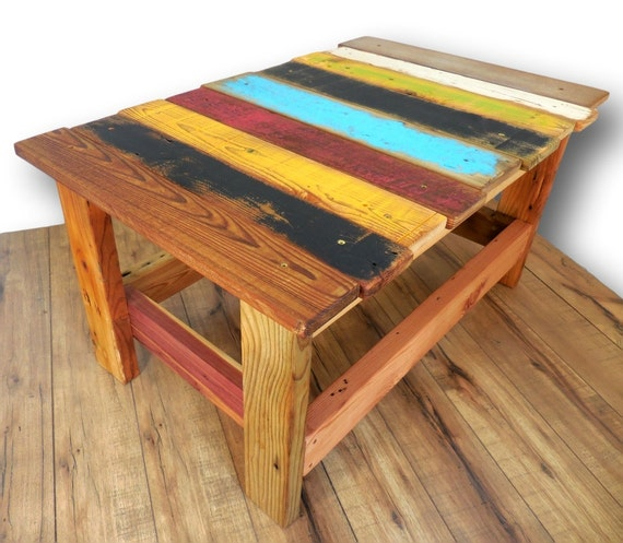 Rustic Modern Coffee Table: Modern Rustic Coffee Table Reclaimed Wood Furniture By