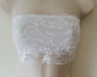 White Lace Bandeau Top