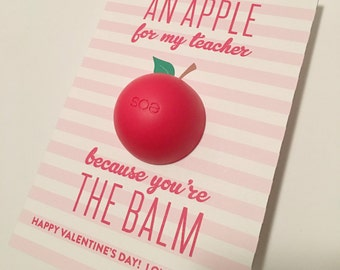 EOS Lip Balm Teacher Gift Printable - PDF Printable - Teacher Appreciation, Thank You, Summer gift, Back to School