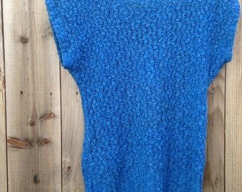 Vintage knit sweater blouse