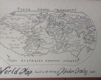1584 World map hand-drawn