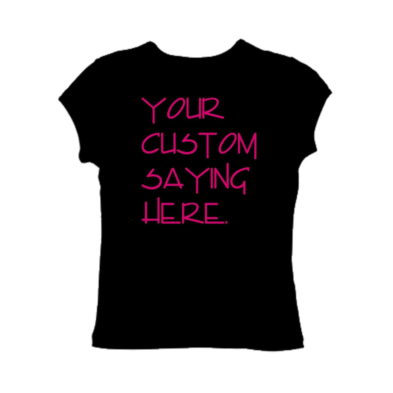 Customized writing website on shirts