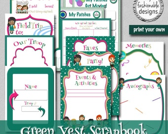 Green Vest Scrapbook - Instant Download!