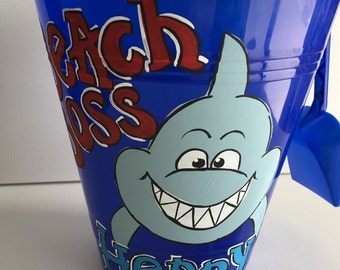 Personalized Sand Bucket | sand pail | beach pail | personalized beach pail | personalized beach bucket | shark sand bucket