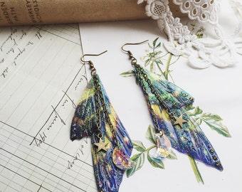 "NEW Pretty ""Faerie wings of the nights sky"" earrings"