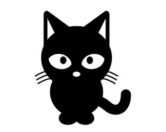 Cat Sticker - Baby Cat, Kitten, Big Eyes - Di Cut Decal - Home/Phone/Computer/Laptop/Car Bumper Sticker Decal