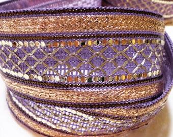 Purple Gold Indian Ribbon/Trim