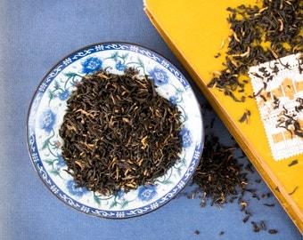 Black Golden Tips Tea / Assam black tea / Premium Black Golden Tips Tea / Golden Tip Tea / NO. 007 / GOLDEN EYE Black Tea