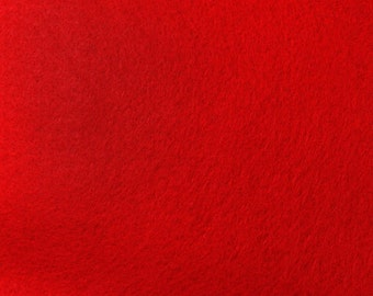 Red Felt Fabric - by the yard