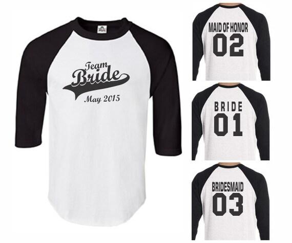 Team bride baseball shirts womens maid of by printasticapparel for Team t shirt ideas